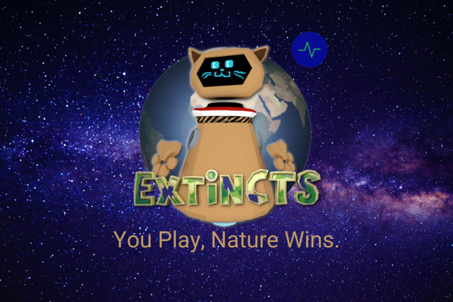 Extincts avatar in space with stars