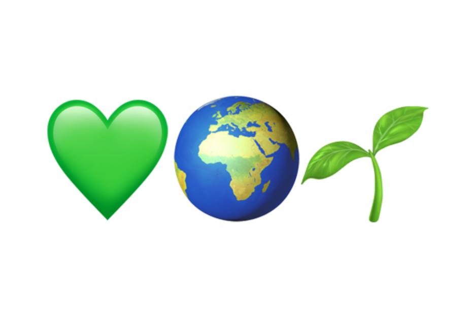 Love heart, planet earth, seedling