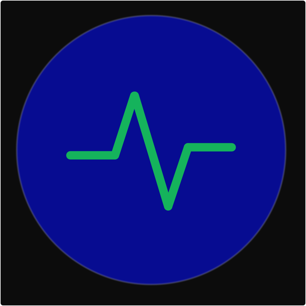 Extincts CIC Logo Blue Earth with Green Heartbeat