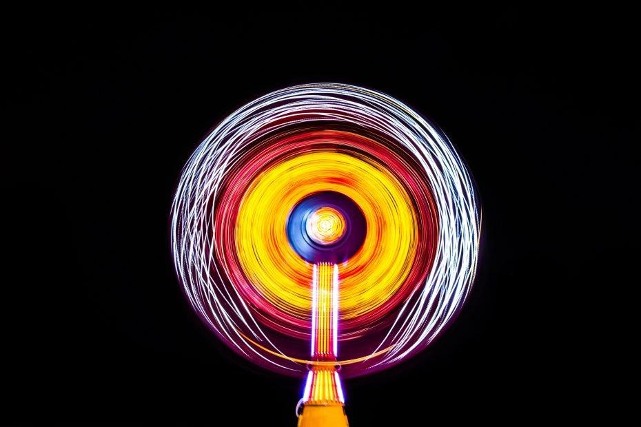 Cocoa Beach carnival illuminated wheel